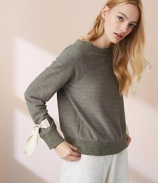 Lou & Grey Terry Ribbon Around Sweatshirt