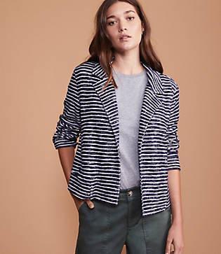 Lou & Grey Textureline Open Moto Jacket