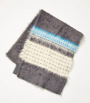 Lou & Grey Fairisle Fuzzed Scarf