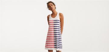 Lou & Grey Sundry Dual Stripe Swing Dress