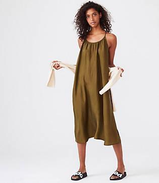 Lou & Grey Silk Strappy Racerback Dress