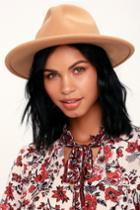 Wilinda Tan Fedora Hat | Lulus