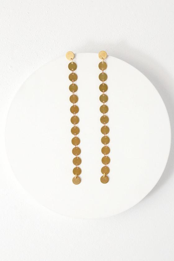Bronx Gold Drop Earrings | Lulus