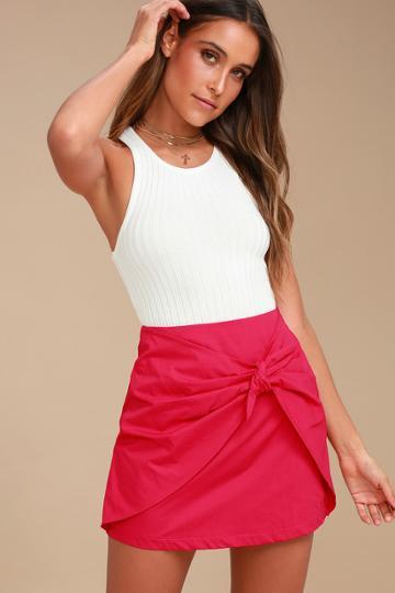 Lush Charms Race Fuchsia Mini Skirt | Lulus