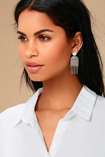Find Your Bliss Silver Earrings | Lulus