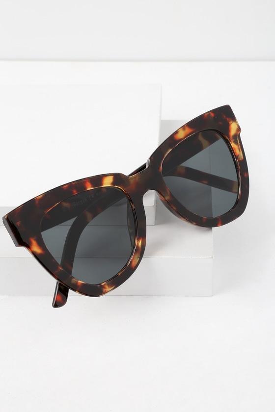 Not Standard Tortoise Sunglasses   Lulus