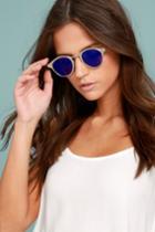 Spitfire Sunglasses   Spitfire Warp Gold And Blue Sunglasses   Lulus