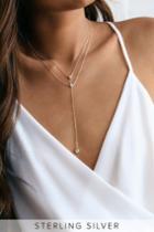 Bijoux Gold Rhinestone Drop Necklace | Lulus