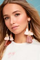 Ettika   Destiny Around You Gold And Terra Cotta Earrings   Lulus