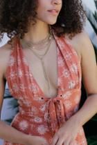 Ellora Gold Rhinestone Layered Necklace | Lulus
