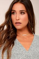Lulus | Sea's Divine Gold And Pearl Choker Necklace