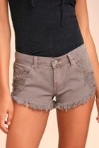 Eunina Collectively Cool Washed Mauve Distressed Cutoff Denim Shorts