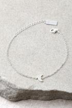 Lulus | Moon Landing Sterling Silver Rhinestone Moon Choker Necklace