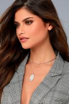 Lulus | Nuevo Silver Layered Charm Necklace