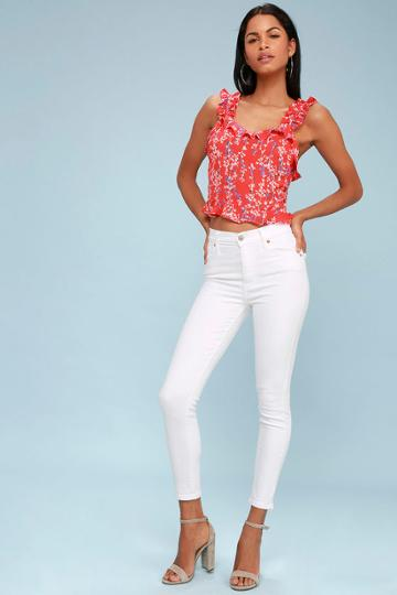 Levi's Mile High White High-waisted Super Skinny Jeans | Lulus