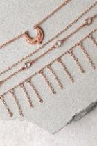 Lulus Horoscope Rose Gold Layered Choker Necklace