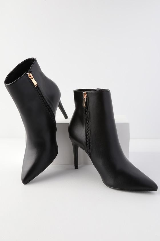 Selenah Black Pointed Toe Ankle Booties | Lulus