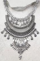 Lulus Sure Allure Silver Rhinestone Statement Necklace