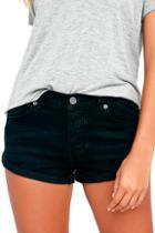 Amuse Society Crossroads Washed Black Denim Shorts