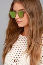 Lulus | Love Me Better Silver And Pink Mirrored Sunglasses