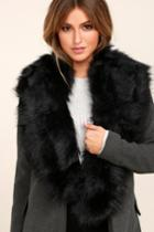 Faux-ever Black Faux Fur Stole | Lulus