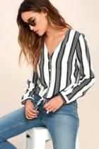 Dress Forum Cole Valley Black And White Striped Top