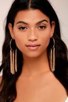 Lulus Brightest Light Gold Earrings