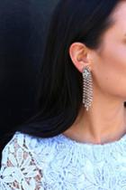 Total Opulence Gold Rhinestone Earrings | Lulus
