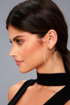 Lulus | Manifestation Silver Hoop Earrings
