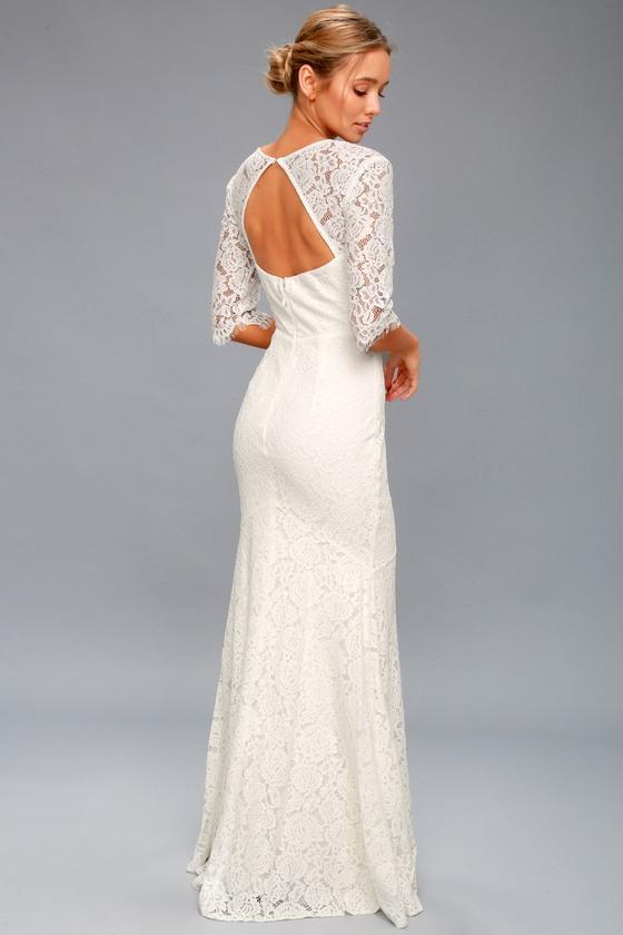 4679323a9c50 Belinda White Lace Maxi Dress | Lulus | LookMazing