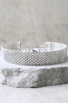 Lulus Legendary Silver Choker Necklace