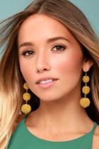 Lulus Dawn Days Gold Earrings