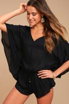 O'neill Taylin Black Romper Cover-up
