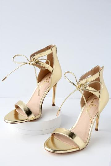 Kate Gold Ankle Strap Heels | Lulus