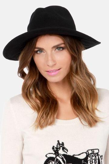 Rvca No Promises Black Fedora Hat