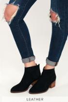 Seychelles Floodplain Black Genuine Suede Leather Ankle Booties | Lulus
