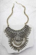 Lulus Moon Dance Gold Statement Necklace