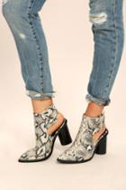 Machi Keelin Snake Pointed Ankle Booties | Lulus