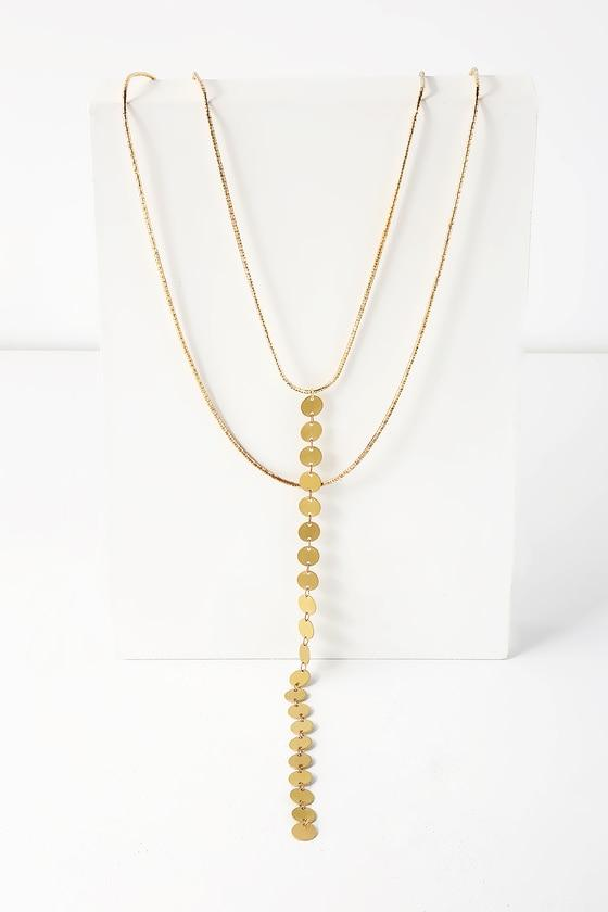 Gilded Love Gold Layered Drop Necklace | Lulus