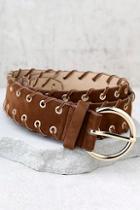 Lulus Indio Gold And Brown Belt
