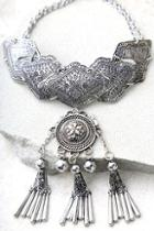 Lulus Spirit Song Silver Statement Necklace