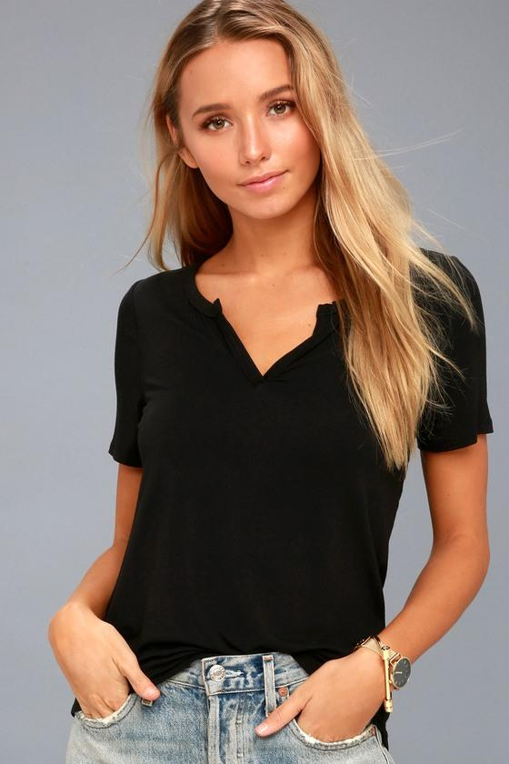 Z Supply Brynlee Black Tee | Lulus