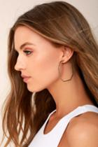 Lulus | Splendid Love Silver Earrings
