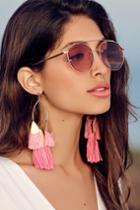 Ettika Destiny Around You Hot Pink And Gold Earrings | Lulus