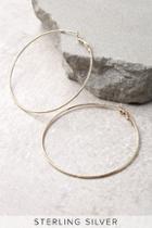 Lulus Pinky Promise Gold Hoop Earrings