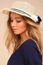 Lulus Yacht Club Beige Straw Hat
