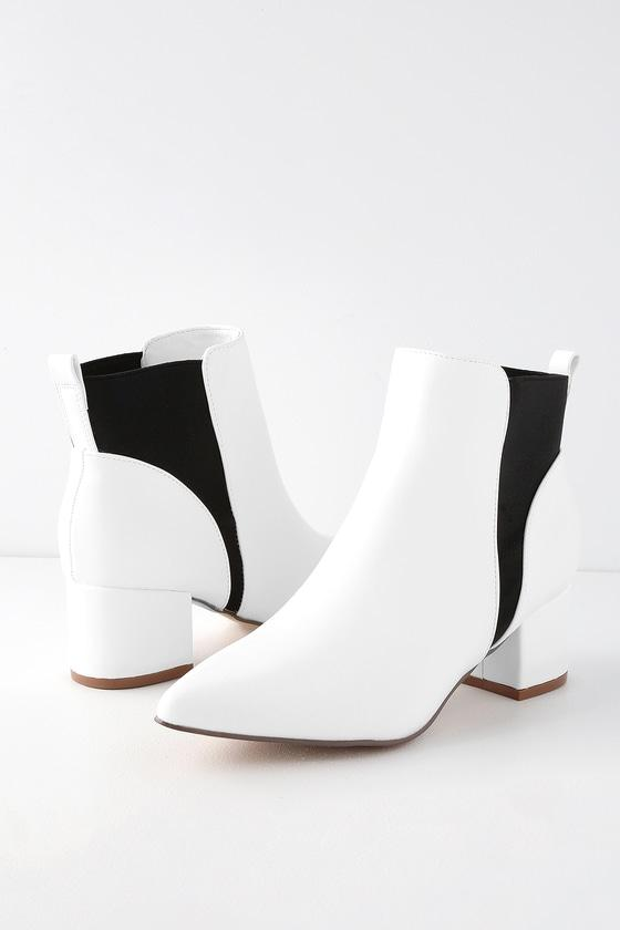 Chase White Pointed Toe Ankle Booties | Lulus