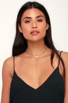 Sparkle Me Gold Rhinestone Layered Choker Necklace | Lulus