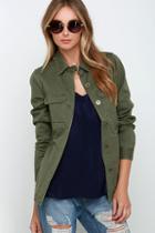 Rhythm Revolution Olive Green Jacket