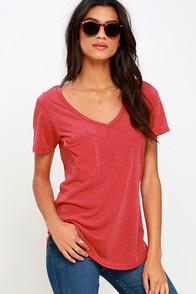 Z Supply Z Supply Pleasant Surprise Washed Red Tee